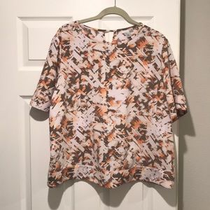 Short sleeve blouse with fun open cross back